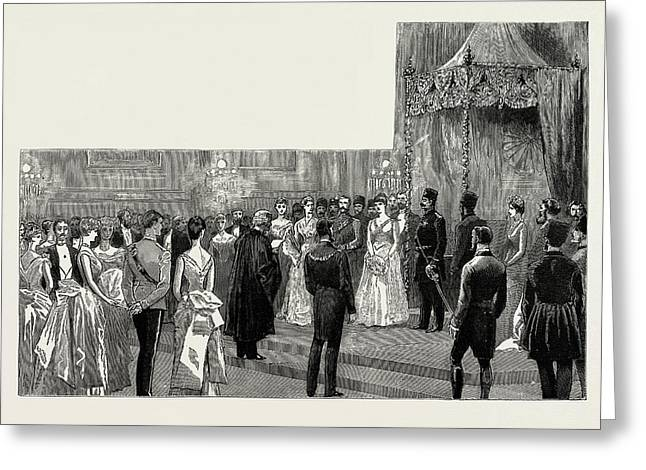 The Shah Of Persia In England, Uk, 1889 The Ball Greeting Card by Litz Collection