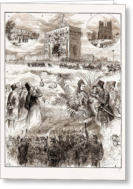 The Shah Of Persia Iran In Paris France 1873 Greeting Card by Litz Collection