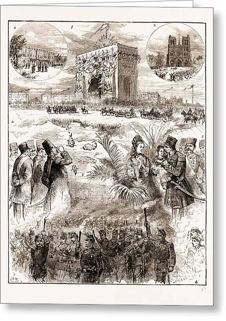 The Shah Of Persia Iran In Paris France 1873 Greeting Card