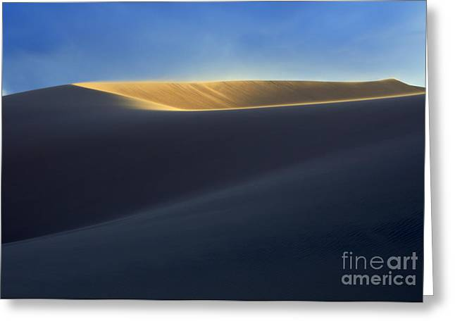 The Shape Of Light Greeting Card by Bob Christopher