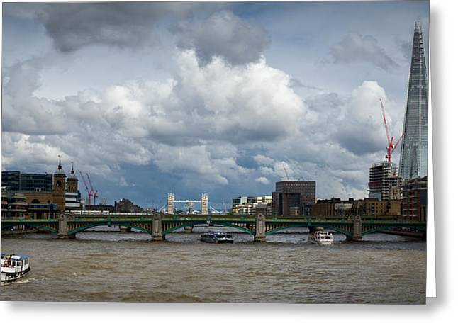 The Shard And Thames View Greeting Card