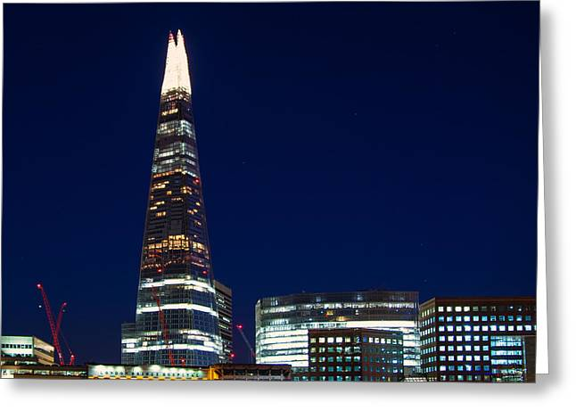The Shard London Greeting Card by Wayne Molyneux