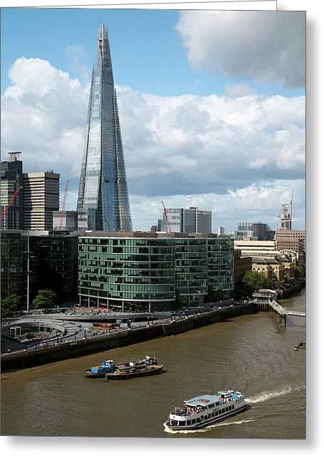 The Shard Skyscraper Greeting Card by Mark Thomas