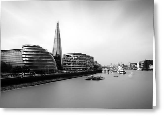 The Shard View London Greeting Card by Ian Hufton