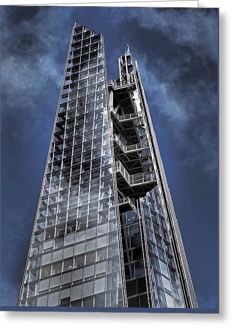 The Shards Of The Shard Greeting Card by Rona Black