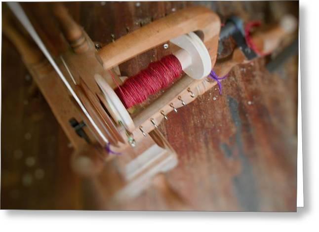 Greeting Card featuring the digital art The Shawl Yarn by Aliceann Carlton