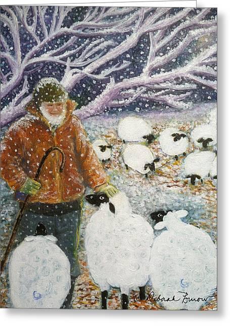 The Shepherd Greeting Card by Deborah Burow