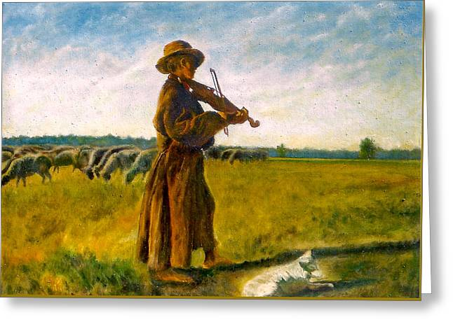 The Shepherd Greeting Card by Henryk Gorecki