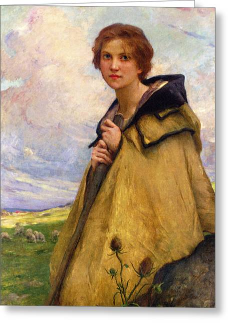 The Shepherdess Greeting Card