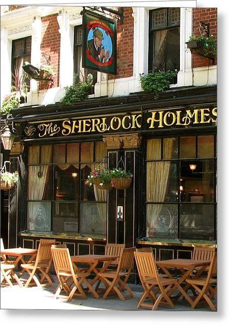 The Sherlock Holmes Greeting Card by Jan Cipolla