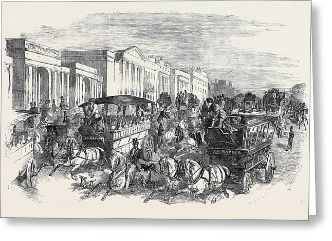 The Shilling Day, Going To The Exhibition Greeting Card by English School