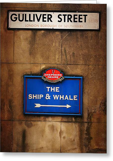 The Ship And Whale Greeting Card by Mark Rogan