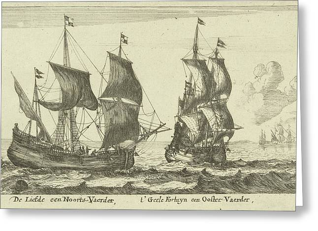 The Ships T Yellow Fortune And Love, Anonymous Greeting Card