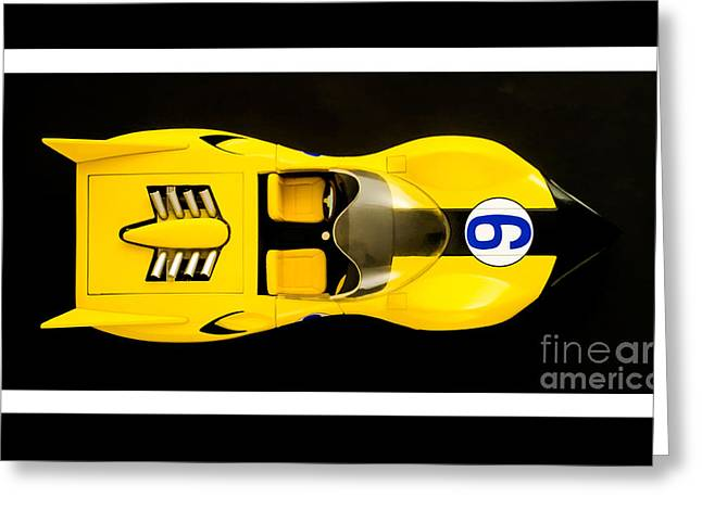 The Shooting Star Racer Xs Number 9 Race Car Greeting Card by Edward Fielding