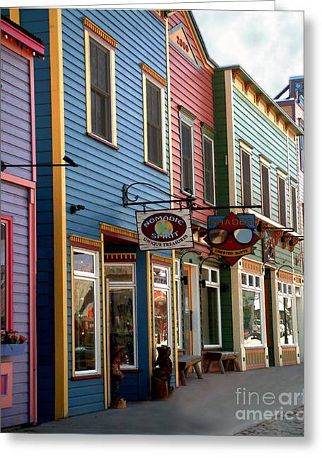 The Shops In Crested Butte Greeting Card by RC DeWinter