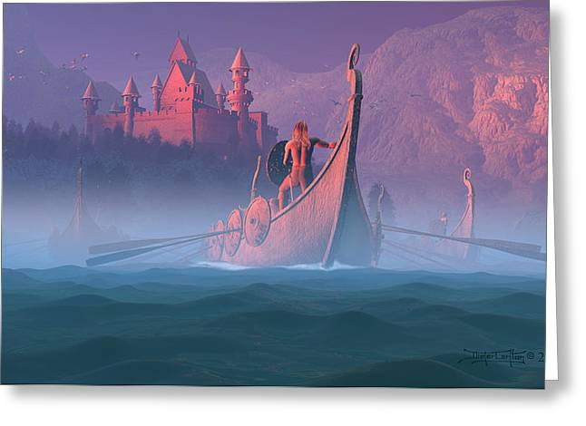 The Shores Of Valhalla Greeting Card