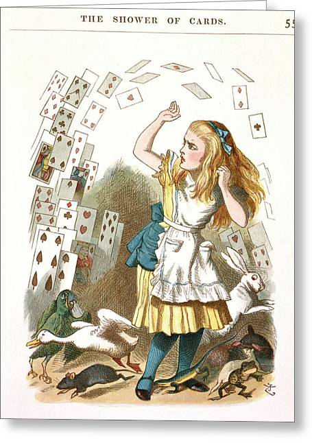 The Shower Of Cards Greeting Card by British Library