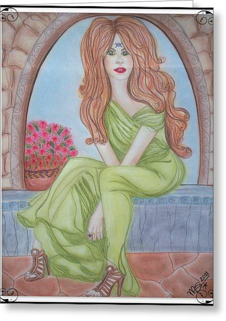The Sibyl - Grecian Goddess Greeting Card