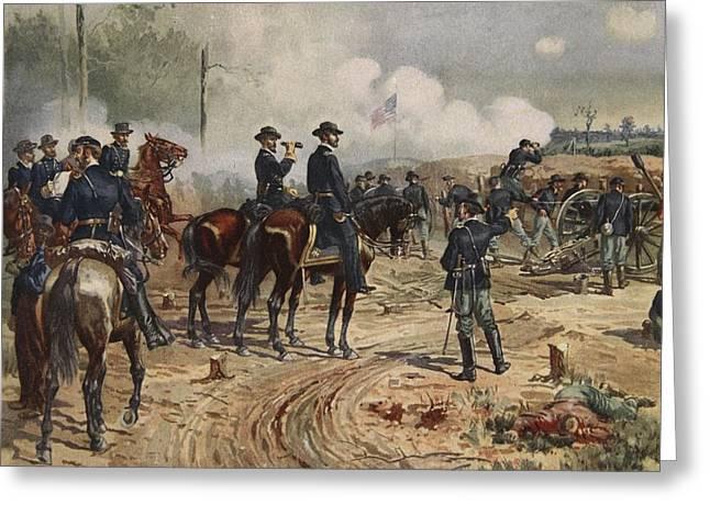 The Siege Of Atlanta, July Greeting Card by Henry Alexander Ogden