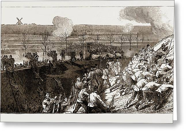 The Siege Operations At Chatham Greeting Card