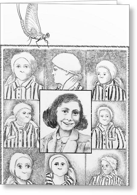 The Silence Of Auschwitz Greeting Card by Carol Jacobs