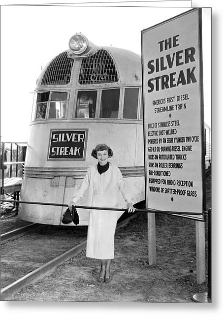 The Silver Streak Train Greeting Card