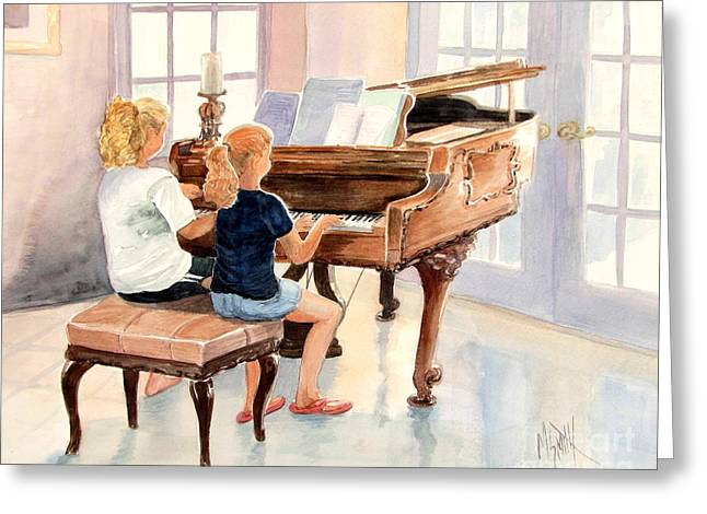 The Sister Duet Greeting Card by Marilyn Smith