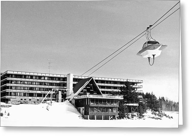 The Ski Lift At Mount Snow Greeting Card by Underwood Archives