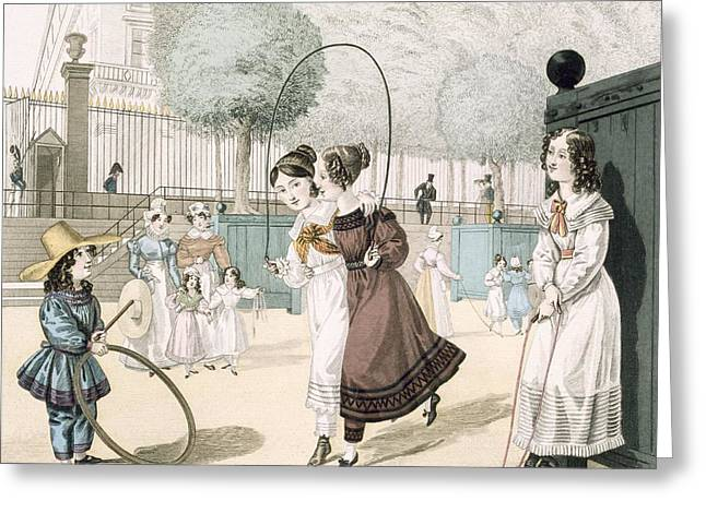 The Skipping Game, Plate 115 From Le Greeting Card