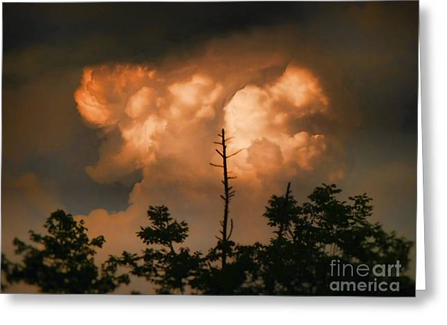 The Sky Above Greeting Card by B Wayne Mullins