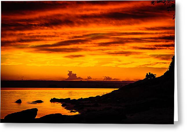 The Sky Is On Fire Greeting Card by Alexandre Focante