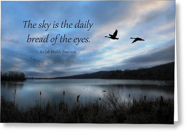 The Sky Greeting Card by Lori Deiter
