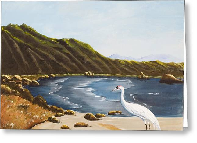 Greeting Card featuring the painting The Sky The Sea The Shore And More by Susan Culver