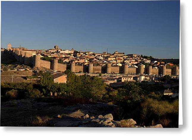 Greeting Card featuring the photograph The Skyline Of Avila Spain by Farol Tomson