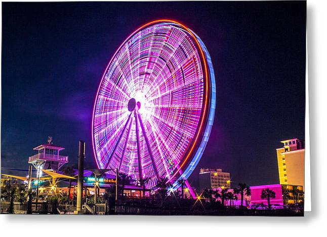 Greeting Card featuring the photograph The Skywheel by Rob Sellers