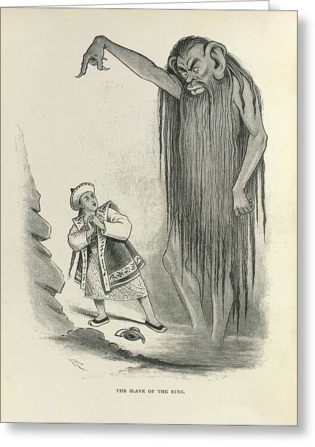 The Slave Of The Ring Greeting Card by British Library