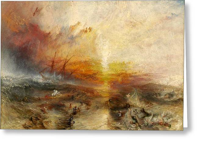 The Slave Ship Greeting Card by JMW Turner