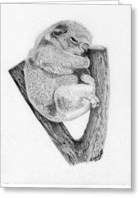 The Sleeper Greeting Card by Wendy Brunell