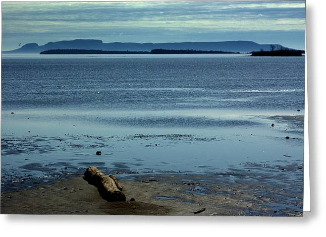 The Sleeping Giant At Low Tide Greeting Card