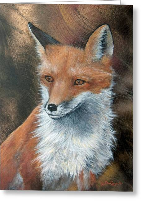 The Sly Old Fox Greeting Card by Dee Carpenter