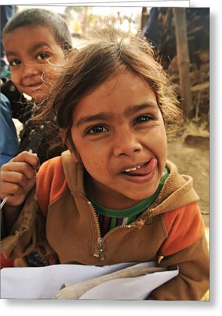 The Smile Greeting Card by Mandav  Prakash