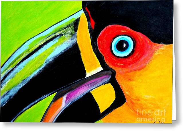 The Smiling Toucan Greeting Card by Claudia Tuli