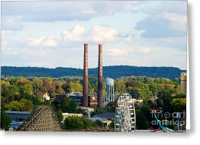 The Smoke Stacks Stand Resolute  Greeting Card