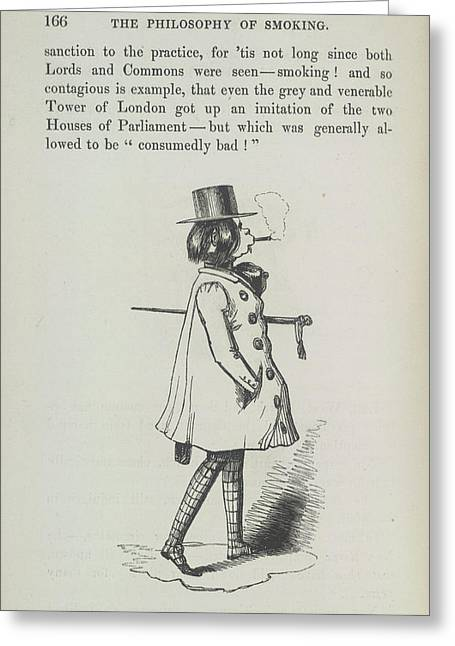 The Smoker Greeting Card by British Library