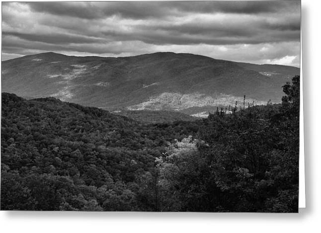 The Smokies In Black And White Greeting Card by Dan Sproul