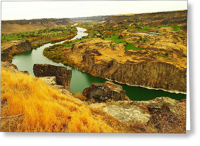 The Snake River  Greeting Card by Jeff Swan