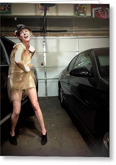 The Sneaky Dress 3 Greeting Card by Lisa Piper Menkin Stegeman