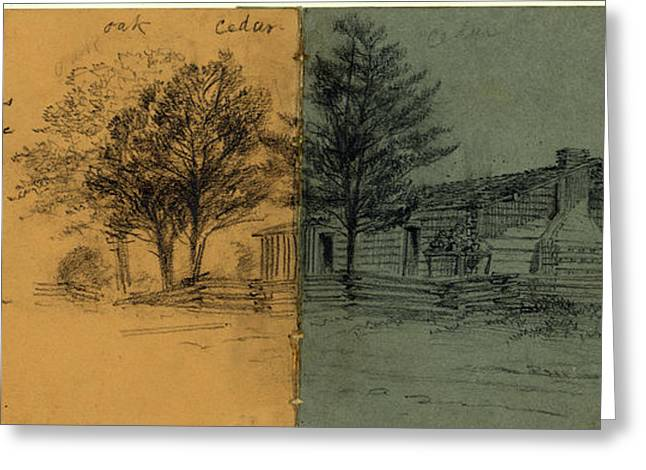 The Snodgrass House On The Battlefield Of Chickamauga Greeting Card by Quint Lox