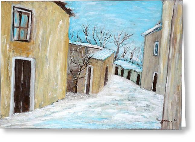 The Snow Greeting Card by Mauro Beniamino Muggianu