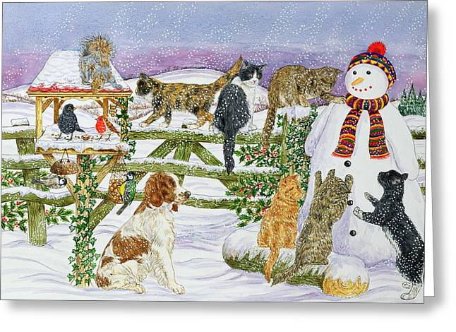 The Snowman And His Friends  Greeting Card by Catherine Bradbury